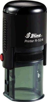 "Shiny R-524 Self-Inking Stamp (1"" dia)"