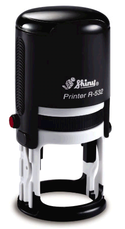 "Shiny R-532 Self-Inking Stamp (1 1/4"" dia)"