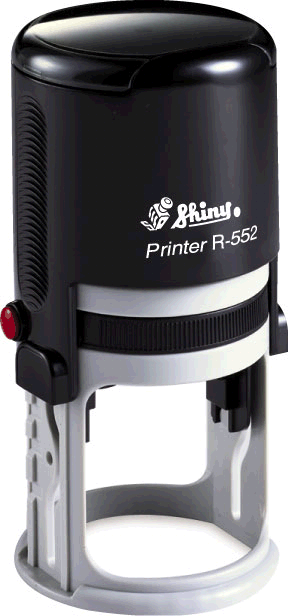 "Shiny R-552 Self-Inking Stamp (2"" dia)"