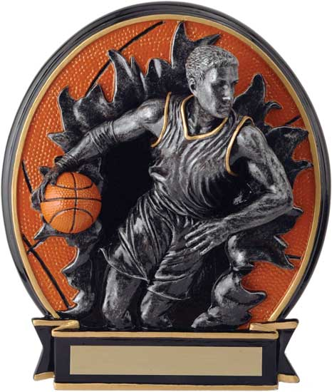 Basketball Blow Out Award - Male 6 1/4""