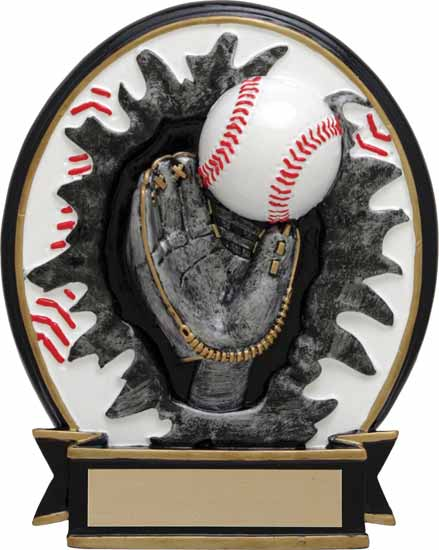 "Baseball Blow Out Resin Award - 6"" - RBOM021FC"