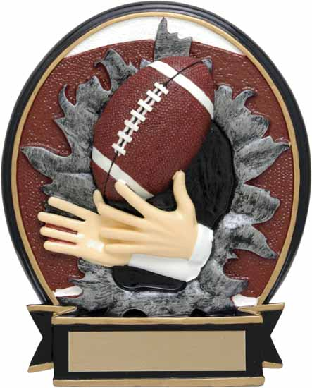 "Football Blow Out Resin Award - 6"" - RBOM028FC"