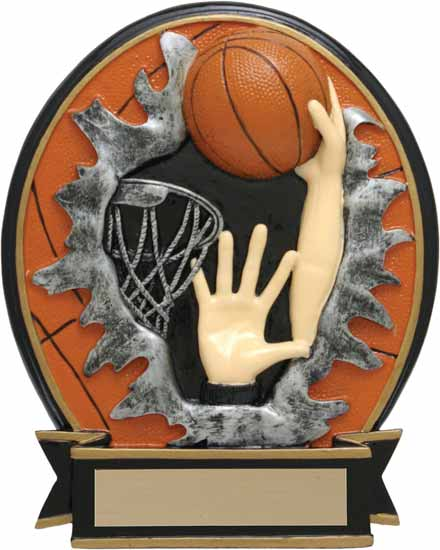 "Basketball Blow Out Award - 6"" - RBOM029FC"