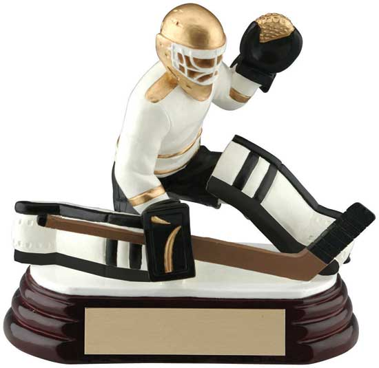 "Goalie Hockey Award - 4 3/4"" x 4 1/4"""