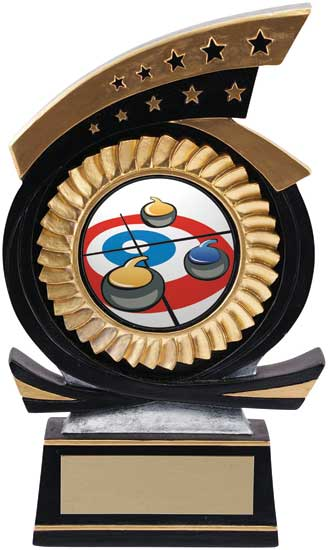 Curling Sport Star Award - 5 1/2""