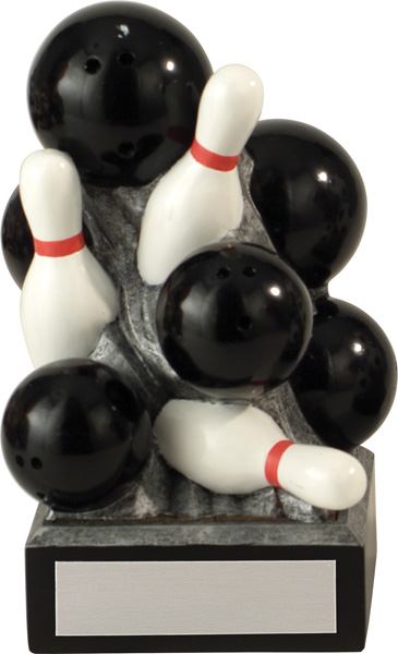 10 Pin Bowling Stacked Award