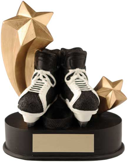 "Hockey Shooting Star Award - 3 1/2"" x 4 1/4"""