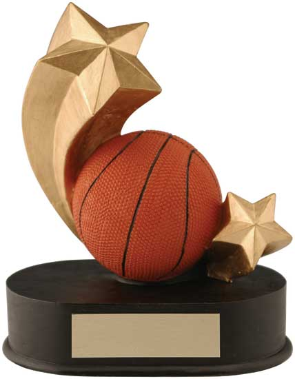 "Basketball Shooting Star Award - 4 1/4"" x 5"""