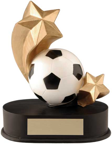 "Soccer Shooting Star Award - 3 1/2"" x 4 1/4"""