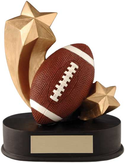 "Football Shooting Star Award - 3 1/2"" x 4 1/4"""