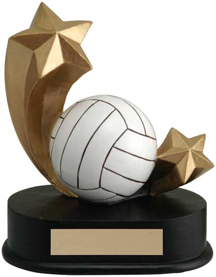 "Volleyball Shooting Star Award - 4 1/2"" x 5"""