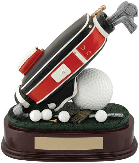 "Golf Bag Award - 7"" RF02665FC"
