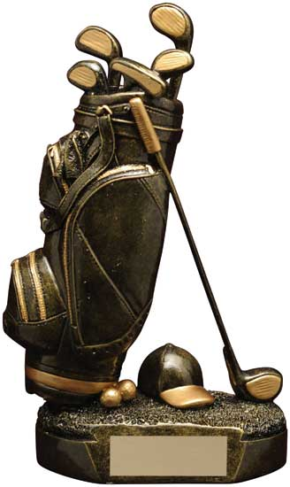 Golf Bag Trophy - RF03508HG 7 1/2""