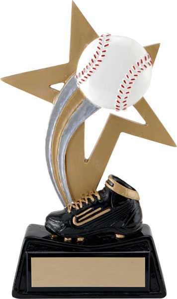 Baseball Big Star Resin - 6 1/4""
