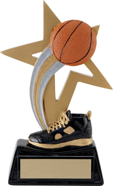 Basketball Big Star Resin - 6 1/4""