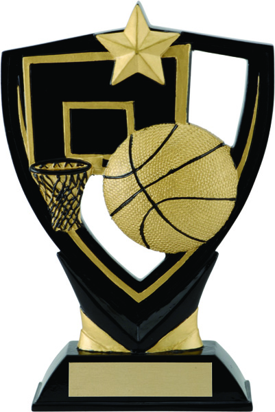 Basketball Apex Shield Award - 6 1/2""
