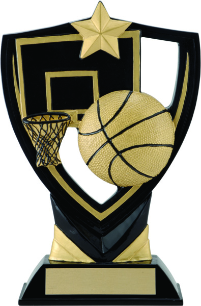 Basketball Apex Shield Award - 7 1/4""