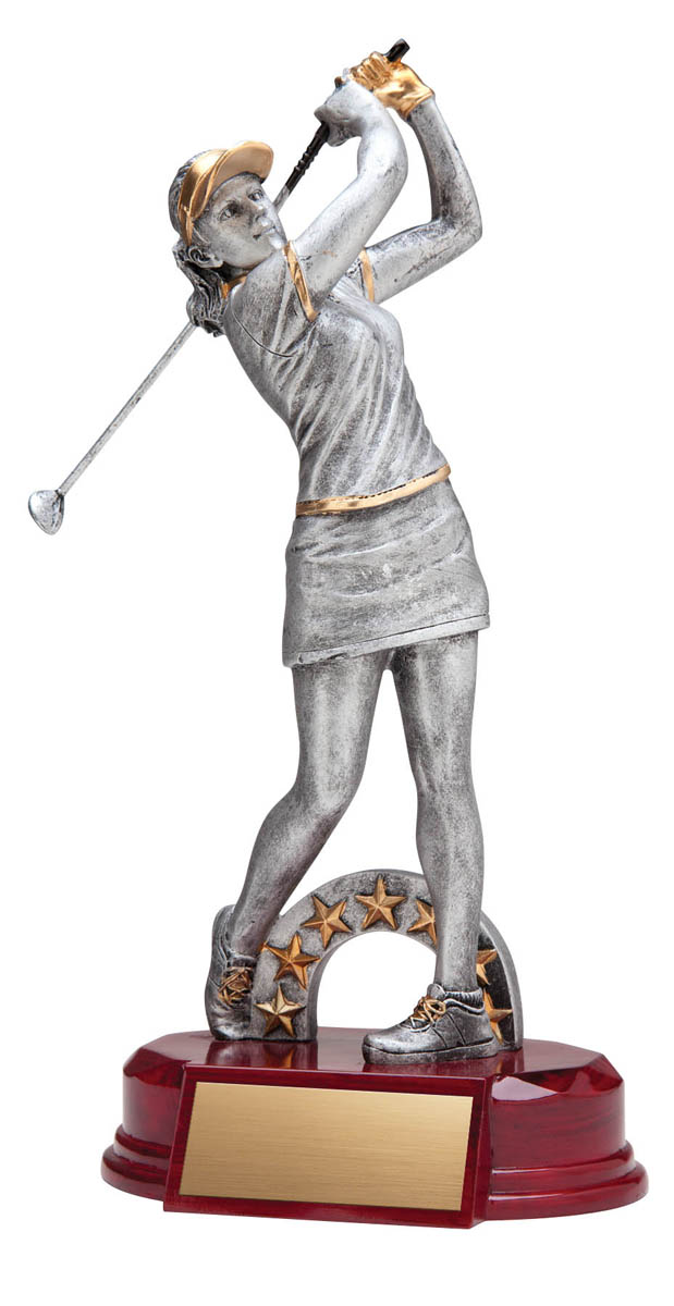 Female Golfer Trophy - 10""