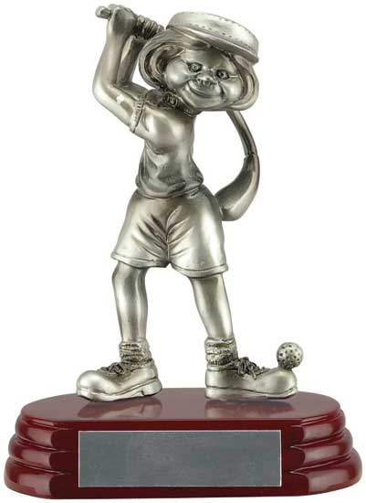 Female Golfer Fun Award - 6""