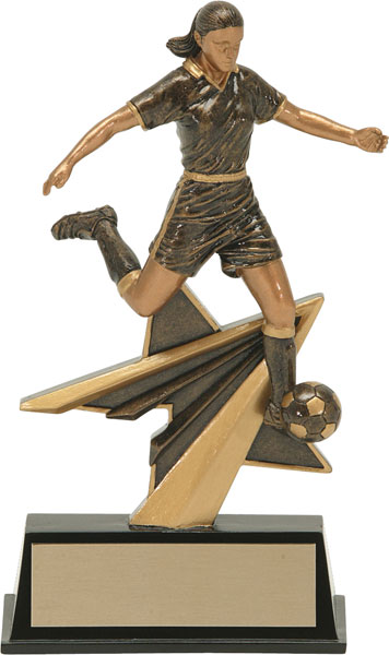 Soccer (F) Aztec Gold Star Power Trophy