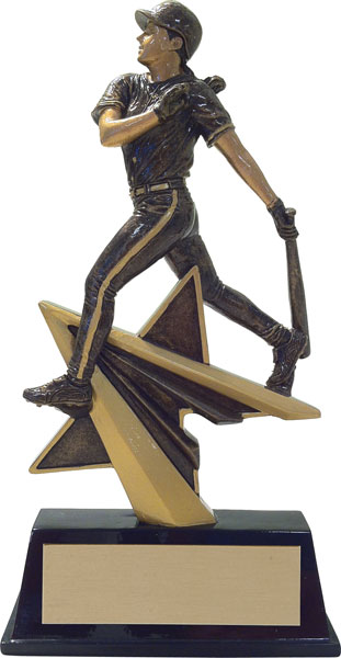 Baseball (F) Aztec Gold Star Power Trophy
