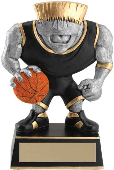 Basketball Muscle Head Award - 5 1/2""
