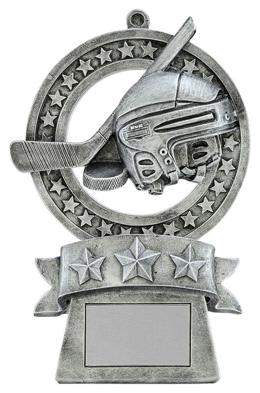 Hockey Star Medal Trophy - 5 3/8""