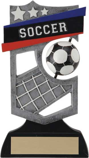 Soccer Spinning Shield Award - 6""