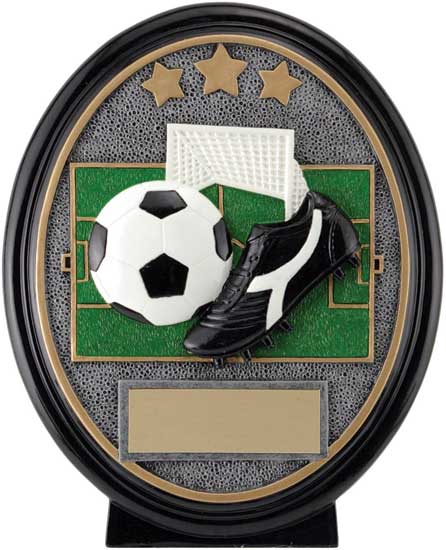 Soccer Oval Resin Award