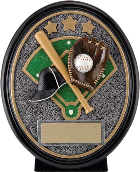 Baseball Oval Resin Award