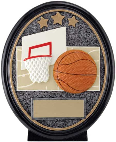 Basketball Oval Resin Award