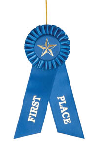 First Place Blue Rosette Ribbon