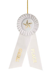 Third Place White Rosette Ribbon