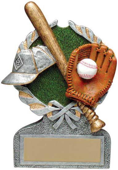 Baseball Full Color Stand Alone Award