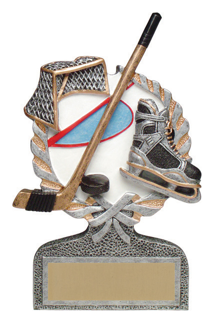 Hockey Full Color Stand Alone Award