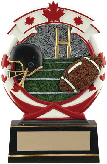 Football Maple Leaf Resin Award - 5 1/2""