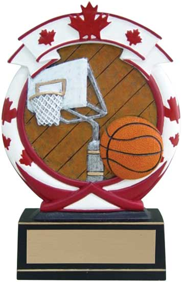 Basketball Maple Leaf Award - 5 1/2""