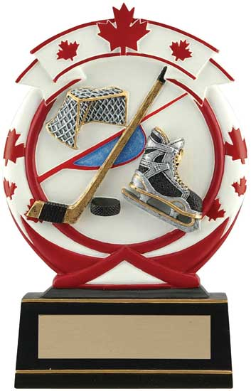 Hockey Maple Leaf Resin Award - 5 1/2""