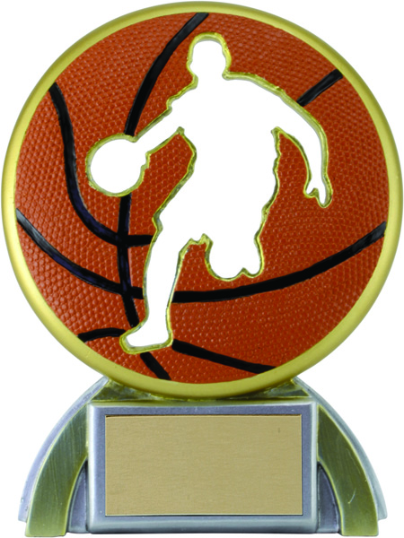 Basketball Silhouette Award - 5 1/4""