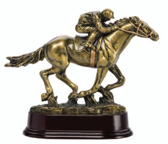 Race Horse Deluxe Sculpture - 6 1/2""