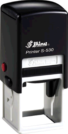 "Shiny S-530 Self-Inking Stamp (1 1/4"" x 1 1/4"")"