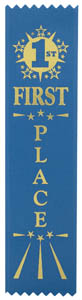 First Place Economy Ribbon - Blue