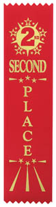 Second Place Economy Ribbon - Red