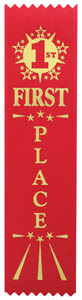 First Place Economy Ribbon - Red