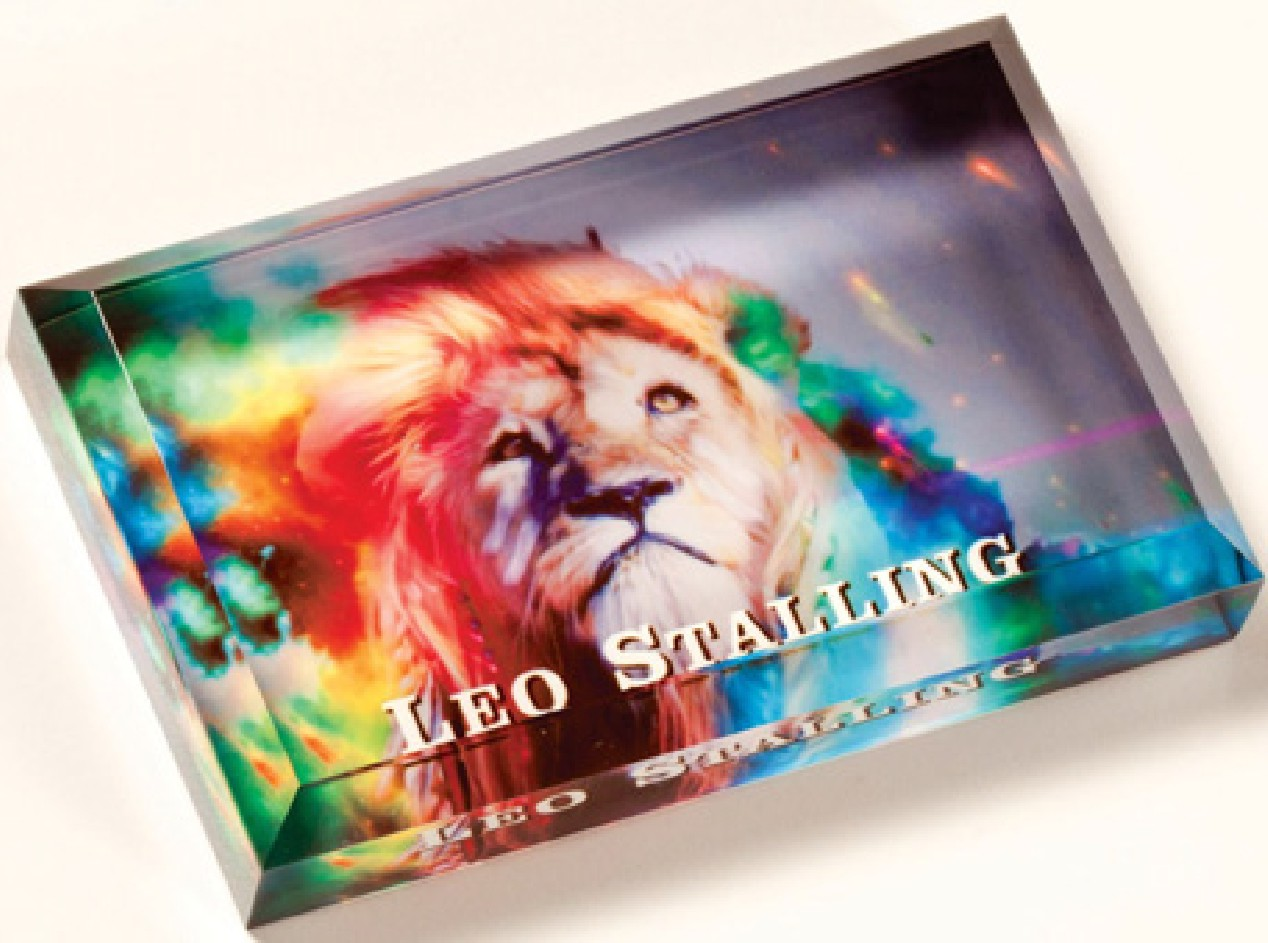 "Full Color Acrylic Plaque - 4"" x 2.5"" x 3/4"" Thick"