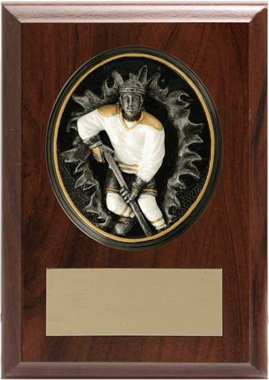 "Hockey Plaque - T11-02252 4 1/4"" x 6"""
