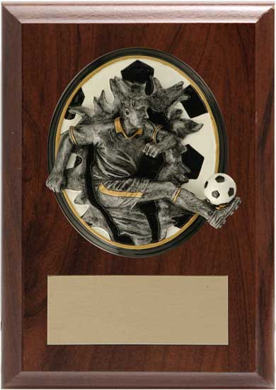 "Soccer Blow Out Plaque - 4 1/4"" x 6"""