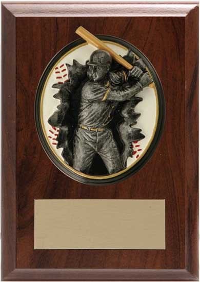 "Baseball Blow Out Plaque - 5"" x 7"""