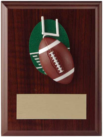 "Football Plaque - T11-13269 4 1/2"" x 6"""