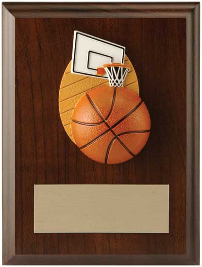 "Basketball Plaque - 4 1/2"" x 6"""